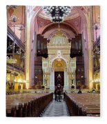 The Dohany Street Synagogue Budapest Fleece Blanket