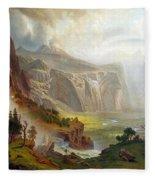 The Domes Of The Yosemite Fleece Blanket