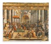 The Donation Of Rome. Fleece Blanket