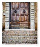 The Door At Number 5 Fleece Blanket
