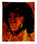 The Doors Light My Fire Fleece Blanket