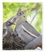 The Dove Family  Fleece Blanket