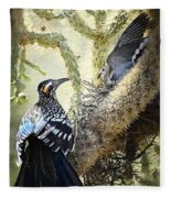 The Dove Vs. The Roadrunner Fleece Blanket