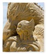 The Dragon And The Goddess Fleece Blanket