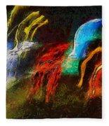 The Dragons Of Desire Fleece Blanket