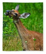The Dreaded Deer Giraffe Fleece Blanket