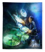 The Drummer 01 Fleece Blanket