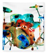 The Drums - Music Art By Sharon Cummings Fleece Blanket