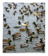 The Duck Pond Fleece Blanket