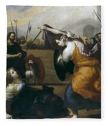 The Duel Of Isabella De Carazzi And Diambra De Pottinella Fleece Blanket