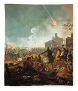 The Duke Of Wellington At La Haye Sainte. The Battle Of Waterloo Fleece Blanket