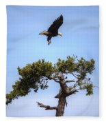 The Eagle Is Landing Fleece Blanket
