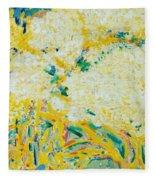 The Elderflower Tree Oil On Canvas Fleece Blanket