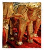 The Elephant Shrine Fleece Blanket
