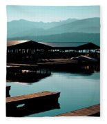 The Elkins Boathouse On Priest Lake Fleece Blanket