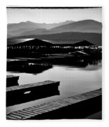 The Elkins Marina On Priest Lake Idaho Fleece Blanket