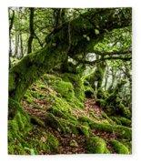The Elven Forest No2 Wide Fleece Blanket