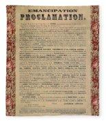 The Emancipation Proclamation Fleece Blanket