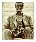 The  Emancipation Proclamation And Abraham Lincoln Fleece Blanket