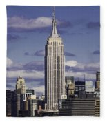 The Empire State Building Fleece Blanket