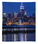 The Empire State Building Pastels Esb Fleece Blanket