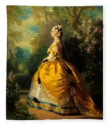 The Empress Eugenie Fleece Blanket