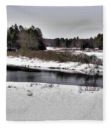 The End Of Winter On The Moose River Fleece Blanket
