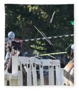 The End To The Jousting Contest  Fleece Blanket