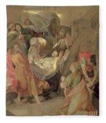 The Entombment Of Christ Fleece Blanket