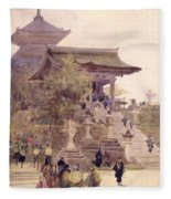 The Entrance To The Temple Of Kiyomizu Dera Kyoto Fleece Blanket