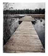 Pier Hamilton Marsh  Fleece Blanket