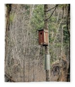 Birdhouse Environment Of Hamilton Marsh  Fleece Blanket