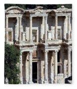 The Ephesus Library In Turkey Fleece Blanket
