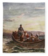 The Escape Of Mary Queen Of Scots Fleece Blanket