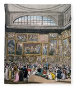 The Exhibition Room At Somerset House Fleece Blanket