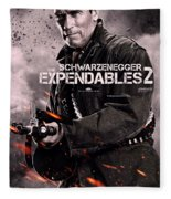 The Expendables 2 Schwarzenegger Fleece Blanket