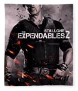 The Expendables 2 Stallone Fleece Blanket