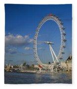 The Eye In London Fleece Blanket