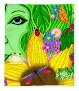 The Eye Of Mother Nature Fleece Blanket