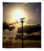 The Eye Of The Evening Sun Fleece Blanket