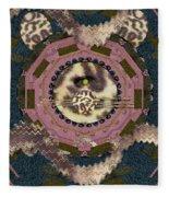 The Eye Of The Hidden Tiger Fleece Blanket
