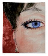 The Eyes Have It - Nicole Fleece Blanket