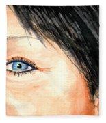 The Eyes Have It - Tami Fleece Blanket