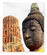 The Face Of A Buddha Fleece Blanket