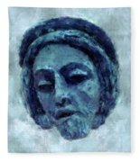 The Face Of Blue Fleece Blanket