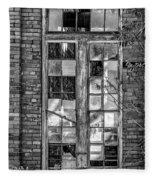 The Factory Window Bw Fleece Blanket