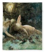 The Fairies From William Shakespeare Scene Fleece Blanket