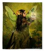 The Fairy Of Clairvoyant Fleece Blanket