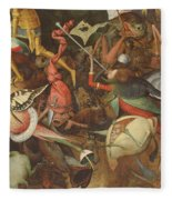 The Fall Of The Rebel Angels, 1562 Oil On Panel Detail Of 74037 Fleece Blanket