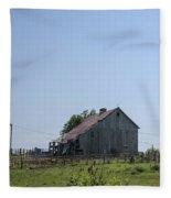 The Family Barn Fleece Blanket